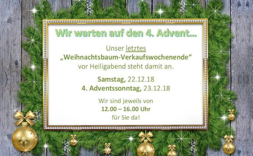 Wir warten auf den 4. Advent